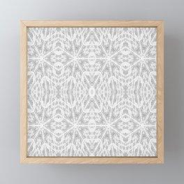 Pattern Grey / Gray Framed Mini Art Print