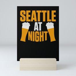 Seattle Washington State Seattle Lover Mini Art Print
