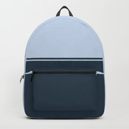 Navy Blue Stripes Backpack