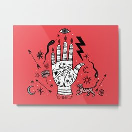Spiritual Hand Metal Print