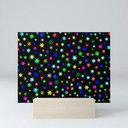 Stars on black ground Mini Art Print