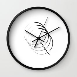 """"""" Eclipse Collection"""" - Minimal Letter Q Print Wall Clock"""