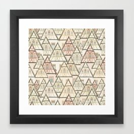 Pattern Houses Framed Art Print