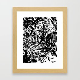 Black And White Dynamic Abstraction Framed Art Print
