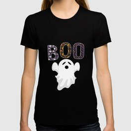 boo funny ghost halloween shirt T-shirt