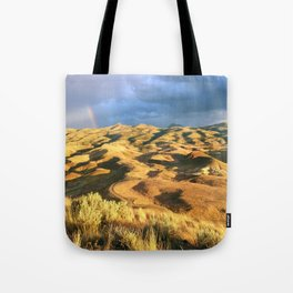 An intense rainbow in the painted hills Tote Bag