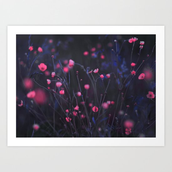 Purple dusk. Art Print