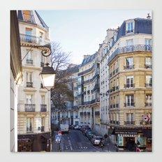 Streets of Paris. Canvas Print
