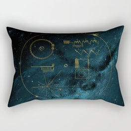 Voyager and the Golden Record - Space   Science   Sagan Rectangular Pillow