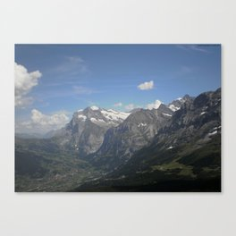 Grindelwald Valley Canvas Print