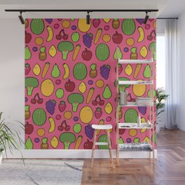 Feeling fruity pink Wall Mural