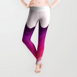 Retro Ripple in Pinks Leggings