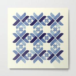 Nordic Blue Metal Print