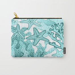 Coral and Star fish in blue Carry-All Pouch