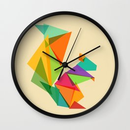 Fractal geometric Squirrel Wall Clock