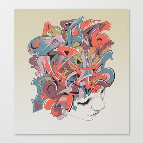 Graffiti Head Canvas Print
