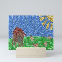 Scratching in the sun Mini Art Print