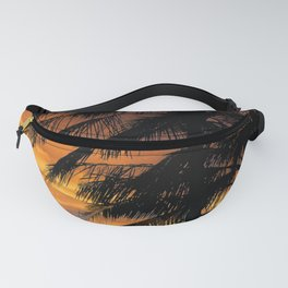 Tropical Palm Silhouette Fanny Pack