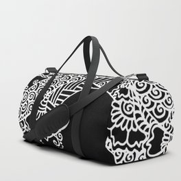 Zen Tree Rebirth Black Left Half Duffle Bag