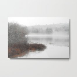 Foggy lake on a winter day - Nature Photography Metal Print