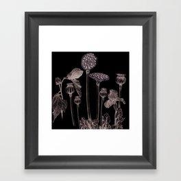 B&W Clock Framed Art Print