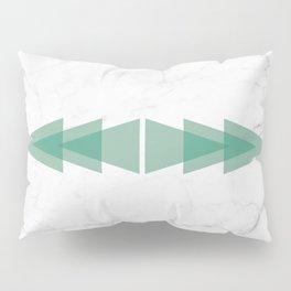 Marble Scandinavian Design Geometric Triangle Pillow Sham