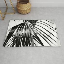 Black & White Palm Leaf #2 #decor #art #society6 Rug