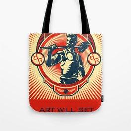 Rubino One World Red Tote Bag