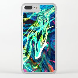 Fluid Abstract 29 Clear iPhone Case