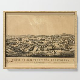 View of San Francisco, California: taken from Telegraph Hill, April 1850 Serving Tray