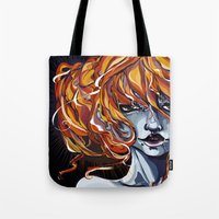 submarine Tote Bags featuring Submarine by Hibrys o' Weasel