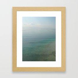 Clear Blue Framed Art Print