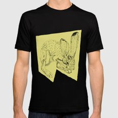 Yellow Hare Black Mens Fitted Tee MEDIUM