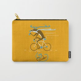 Easy Rider // (cycling hipster deer) Carry-All Pouch