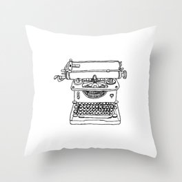 words per minute Throw Pillow