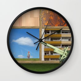 An der Schwelle zur Freiheit · a day with Magritte 2 Wall Clock
