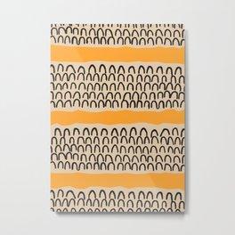 Abstract Mountains - Mid Century Modern Painting - farmhouse, aesthetic, geometric, nordic, fashion, Metal Print