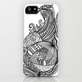 Zentangle Snail iPhone Case