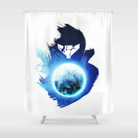 metroid Shower Curtains featuring Metroid Prime 3: Corruption by Ian Wilding
