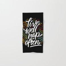 live well, nap often Hand & Bath Towel