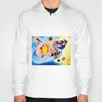 kandinsky Hoodies featuring Yellow Red Blue - Tribute to Kandinsky by ArtvonDanielle