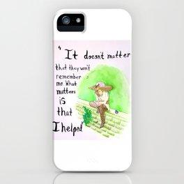 The Helper iPhone Case