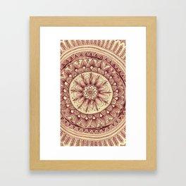 mandala: maroon Framed Art Print