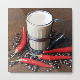 MILK COFFEE and RED CHILLI Metal Print
