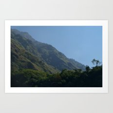 Lush Scenery Ghasa to Tatopani Art Print