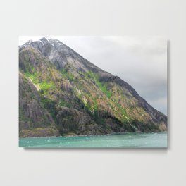 Sunlit Mountain Metal Print
