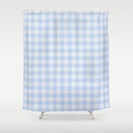Gingham Pattern - Blue Shower Curtain