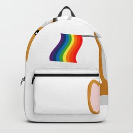 LGBT Gay Pride Flag Corgi - Pride Women Gay Men Backpack