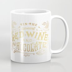 Tis the Season for Red Wine and Chocolate – White Mug