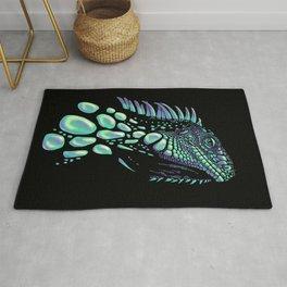 Iguana black Rug